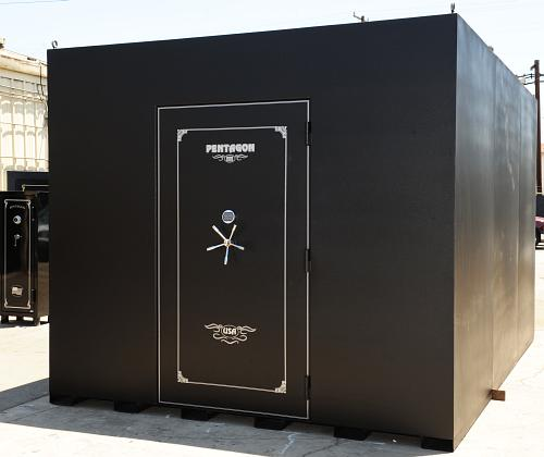 Gun safes vault doors vault room doors modular storm for Walk in safes for homes