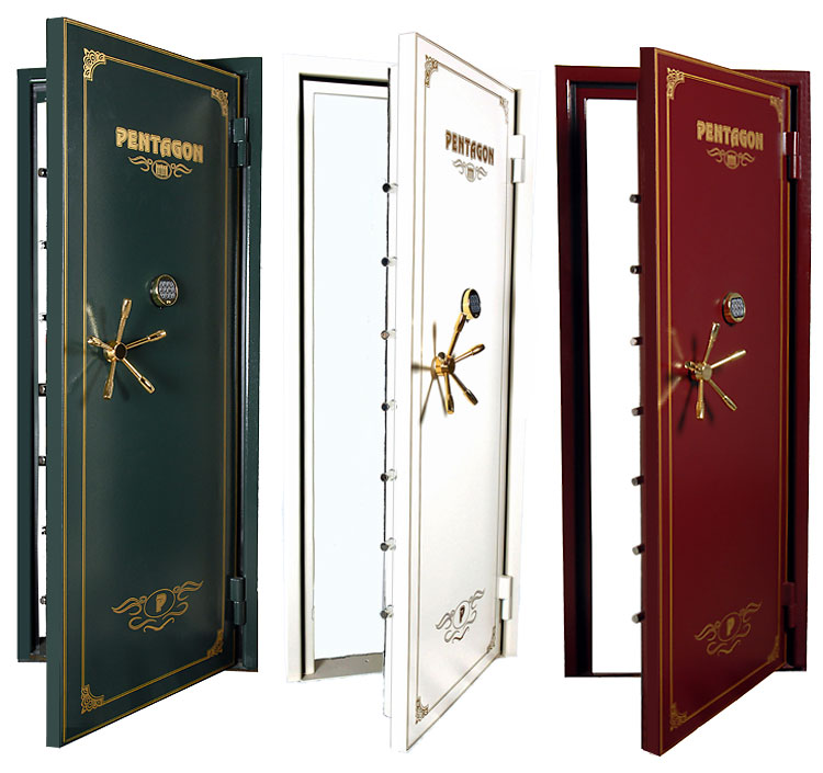 Pentagon Crown vault doors - Vault Doors, Vault Room Doors, Storm Shelter Doors, Safe Room And