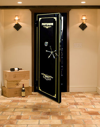 Wine cellar vault door